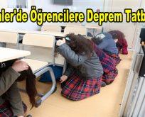 Esenler'de öğrencilere deprem tatbikatı