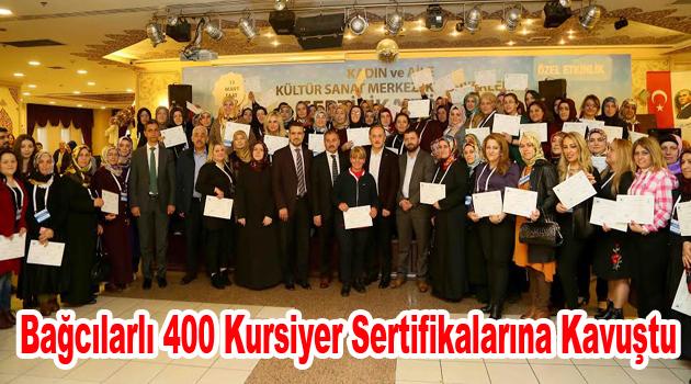 Bağcılarlı 400 kursiyer sertifikalarına kavuştu
