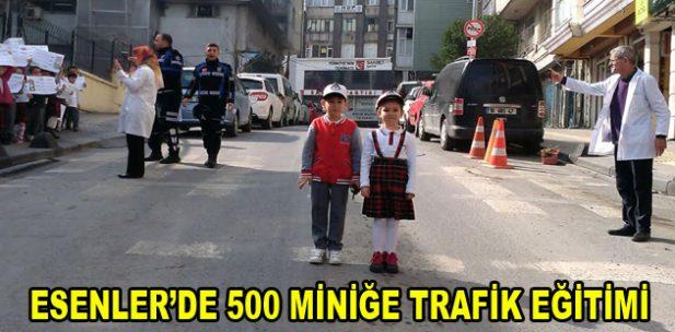 Esenler'de 500 miniğe trafik eğitimi