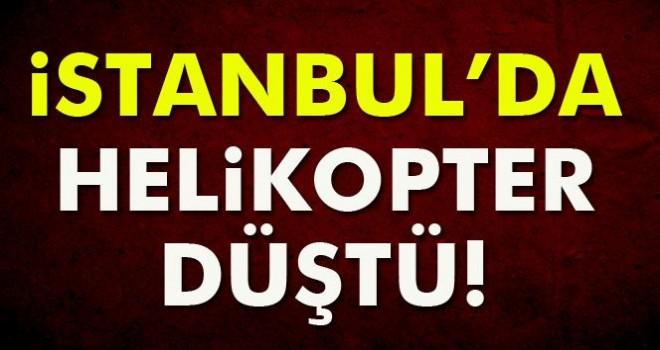 Son Dakika! İstanbul'da Helikopter Düştü!