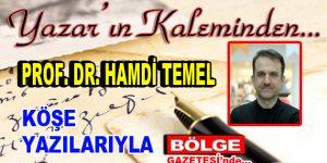 Prof. Dr. Hamdi Temel, Bölge Gazetesi'nde…