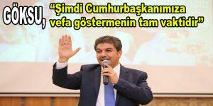 """Göksu; """"Erdoğan, Esenler'e hep """"EVET"""" dedi"""""""