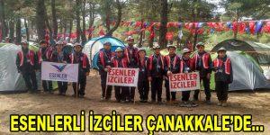 Esenlerli izciler Çanakkale'de…