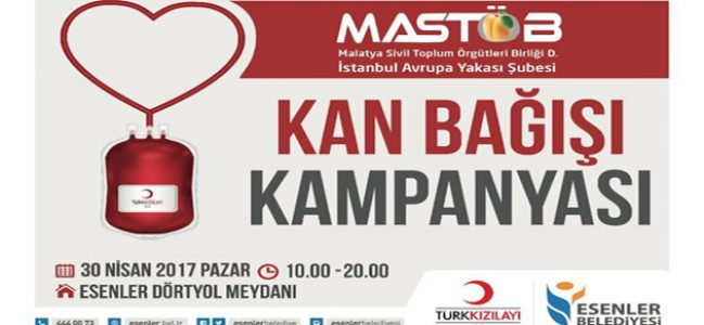 MASTÖB, Esenler'de Kan Bağışı Kampanyası başlatıyor