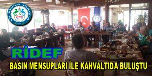 RİDEF, Basın mensupları ile kahvaltıda buluştu
