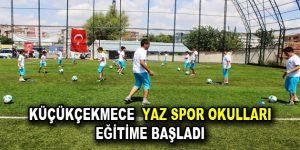 Küçükçekmece Yaz Spor Okulları eğitime başladı