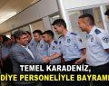 Karadeniz, belediye personeliyle bayramlaştı