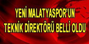 Yeni Malatyaspor'un Teknik Direktörü Belli Oldu