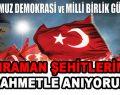 15 Temmuz Demokrasi ve Milli Beraberli Günü