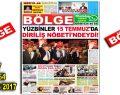 """BÖLGE GAZETESİ , YIL:17 , SAYI: 164 , """"AĞUSTOS-2017"""""""
