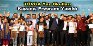 TÜVGA Yaz Okulları kapanış programı yapıldı