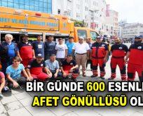 Bir günde 600 Esenlerli Afet Gönüllüsü oldu