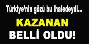 Türkiye'nin Gözü Bu İhaledeydi…Kazanan Belli Oldu!