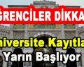 Öğrenciler Dikkat! LYS Üniversite Kayıtları Yarın Başlıyor…