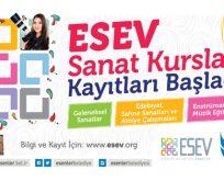 ESEV Sanat Kursları kayıtları devam ediyor