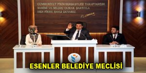 ESENLER BELEDİYE MECLİSİ 3 EYLÜL'DE