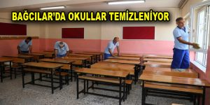 Bağcılar'da okullar temizleniyor