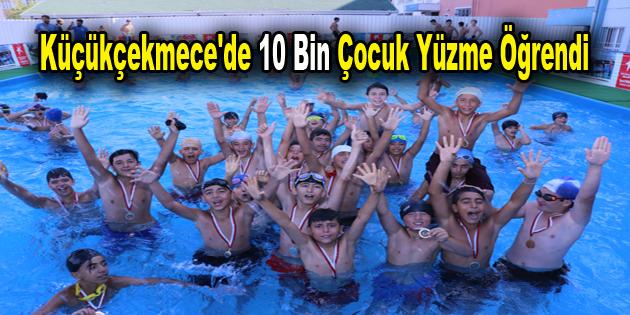 Küçükçekmece'de 10 bin çocuk yüzme öğrendi