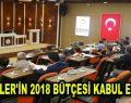 ESENLER'İN 2018 BÜTÇESİ KABUL EDİLDİ