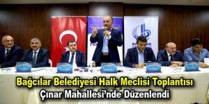 Bağcılar Belediyesi Halk Meclisi Toplantısı Çınar Mahallesi'nde düzenlendi
