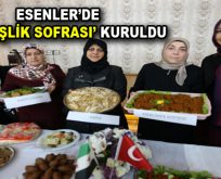 """Türk ve Suriyeli kadınlar, Esenler'de """"Kardeşlik Sofrası"""" kurdular"""