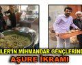 Esenler'in mihmandar gençlerinden vatandaşlara aşure ikramı