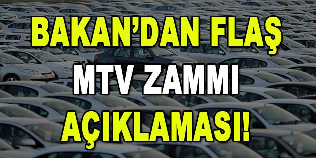 Bakan'dan Flaş MTV zammı açıklaması!