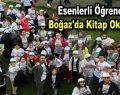 Esenlerli öğrenciler Boğaz'da kitap okudular