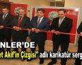 """Esenler'de """"Mehmet Akif'in Çizgisi"""" adlı karikatür sergisi açıldı"""
