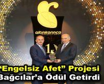 """Bağcılar Belediyesi """"Engelsiz Afet"""" projesiyle Altın Karınca ödülü"""