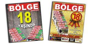 BÖLGE GAZETESİ 18 YAŞINDA!