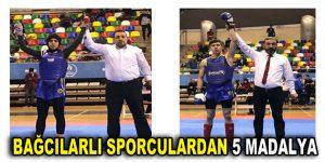 Bağcılarlı gençler Wushu'da 5 madalya kazandı