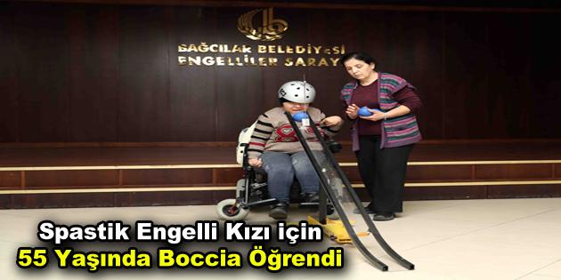 Spastik engelli kızı için 55 yaşında boccia öğrendi