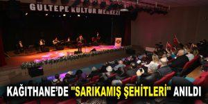 """KAĞITHANE'DE """"SARIKAMIŞ ŞEHİTLERİ"""" ANILDI"""