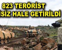 823 terörist etkisiz hale getirildi