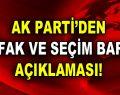 AK Parti'den ittifak ve seçim barajı açıklaması!
