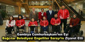 Bağcılarlı Engelliler, Gambiya Cumhurbaşkanı'nın eşine ok atmayı öğretti