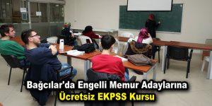 Bağcılar'da engelli memur adaylarına ücretsiz EKPSS kursu