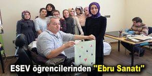 """ESEV öğrencilerinden """"Ebru Sanatı"""""""