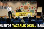 ESENLER'DE YAZARLIK OKULU BAŞLADI