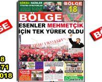 "BÖLGE GAZETESİ , YIL:18 , SAYI: 171 , ""MART 2018"" SAYISI ÇIKTI!.."