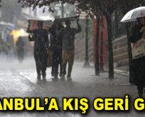 İstanbul'a kış geri geldi