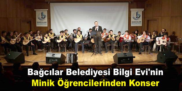Bağcılar Belediyesi Bilgi Evi'nin minik öğrencilerinden konser