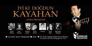 Usta sanatçı Kayahan, Esenler'de anılacak