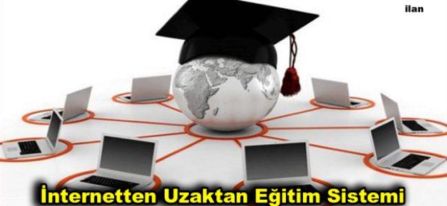 İnternetten Uzaktan Eğitim Sistemi