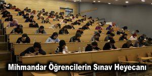 Mihmandar öğrencilerin sınav heyecanı