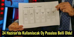24 Haziran'da kullanılacak oy pusulası belli oldu!