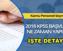 2018 KPSS ne zaman yapılacak?