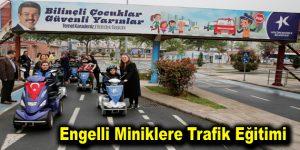 Engelli miniklere trafik eğitimi