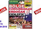 "BÖLGE GAZETESİ , YIL:18 , SAYI: 174 , ""HAZİRAN 2018"" SAYISI ÇIKTI!.."